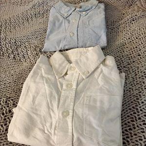 VGUC 4T Blue & White Dress Shirt Button Up Bundle